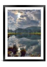 River Brathay Reflections, Framed Mounted Print