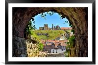 Whitby Abbey through The Arch, Framed Mounted Print