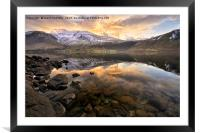 Wastwater sunrise, Framed Mounted Print