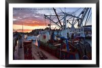Weymouth At Sunset, Framed Mounted Print
