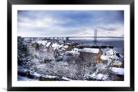 South Queensferry in the Snow, Framed Mounted Print
