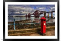 The Post Box on the Promenade, Framed Mounted Print