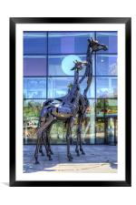 Omni Centre Blues, Framed Mounted Print