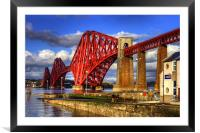 Hawes Pier Slipway and Forth Bridge, Framed Mounted Print