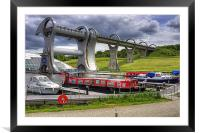 Boats at the Falkirk Wheel, Framed Mounted Print