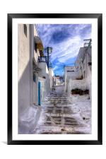 Steps up the Hill, Framed Mounted Print
