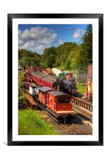 Crowds at Goathland Station, Framed Mounted Print
