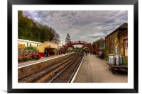 Goathand Station Platform, Framed Mounted Print