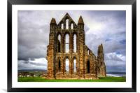 Whitby Abbey Remains, Framed Mounted Print