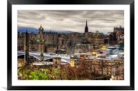 Grey Old Town, Framed Mounted Print