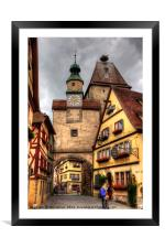 Roeder Arch & Markus Tower, Framed Mounted Print