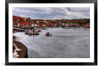 Whitby Marina, Framed Mounted Print