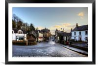 Dunblane High Street, Framed Mounted Print