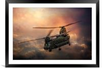 Boeing CH-47 Chinook, Framed Mounted Print
