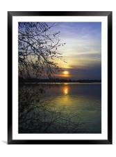 The end of a beautiful day, Framed Mounted Print