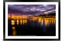 Sunset over Sete, France, Framed Mounted Print