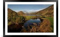 Wastwater lake district Cumbria., Framed Mounted Print
