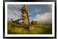 Old wrecks of the river Wyre, Framed Mounted Print
