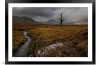 Rannoch Moor Highlands, Framed Mounted Print