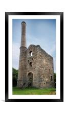 Hawkes shaft engine house  , Framed Mounted Print