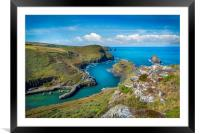 Boscastle harbour Cornwall , Framed Mounted Print