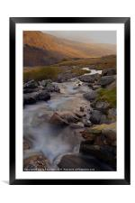 Along The Valley, Framed Mounted Print