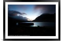 The First Light of Day, Framed Mounted Print