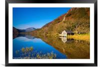 The Boathouse at Llyn Dinas, Framed Mounted Print