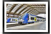 SNCF in Lille, Framed Mounted Print