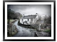 Down the Lane., Framed Mounted Print