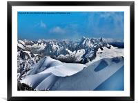 Mont-Blanc View, Framed Mounted Print