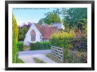 St Marys Church. Turville., Framed Mounted Print