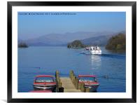 Bowness on Windermere, Framed Mounted Print