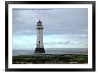Perch Rock lighthouse. , Framed Mounted Print