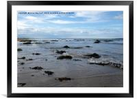 The beach at Seahouses. , Framed Mounted Print