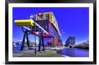 Chips and Milliners Wharf Manchester, Framed Mounted Print