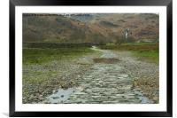 THE WAY TO THE HILLS, Framed Mounted Print