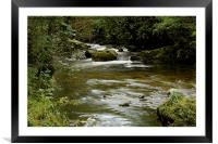 GREEN AND WATER, Framed Mounted Print