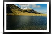 WINTERS WATER, Framed Mounted Print