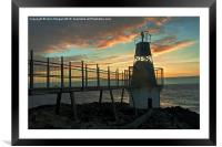Battery Point sunset 2., Framed Mounted Print