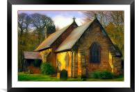 St Michael and all Angels Church, fractalious, Framed Mounted Print