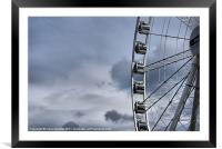 Wheel of Manchester II, Framed Mounted Print