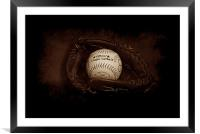 Play Ball (sepia edition), Framed Mounted Print