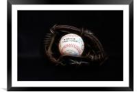 Play Ball (Fractalius version), Framed Mounted Print