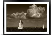 Cowes Yachting Canvases & Prints, Framed Mounted Print