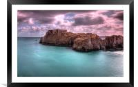 St Catherines Rock, Tenby, Framed Mounted Print