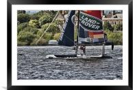 Extreme 40 Flying The Hull, Framed Mounted Print
