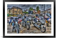 Motorcycle Rally 3, Framed Mounted Print