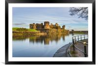 Caerphilly Castle Long Exposure 3, Framed Mounted Print