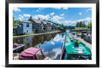 Brecon Canal Basin 5, Framed Mounted Print